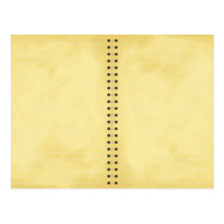 aged note pad post card