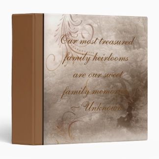 Aged Oak Tree Family History Binder