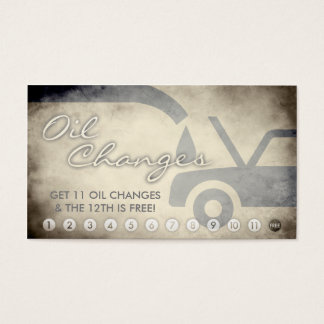 aged oil changes loyalty card