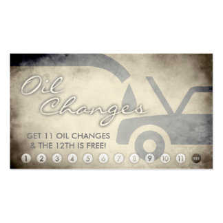 aged oil changes loyalty card Double-Sided standard business cards (Pack of 100)