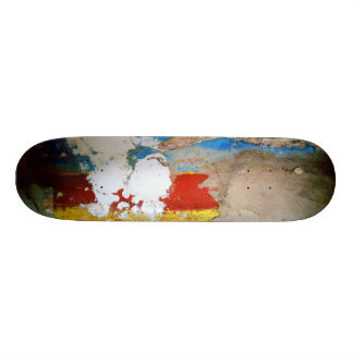 Aged Painted Concrete Wall Skateboard