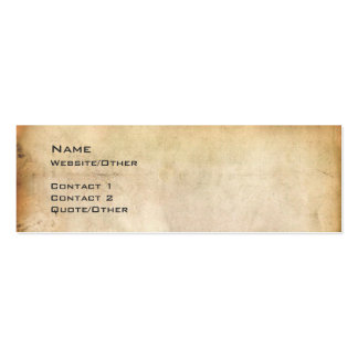 Aged Paper Double-Sided Mini Business Cards (Pack Of 20)