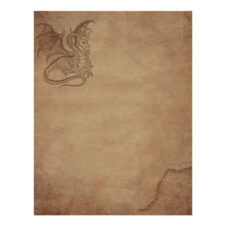 Aged paper - Dragon Letterhead