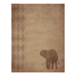 Aged paper - elephant letterhead