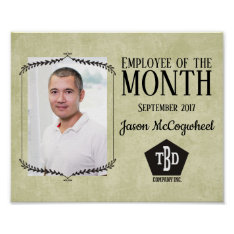Aged Paper Employee Of The Month Certificate Poster at Zazzle