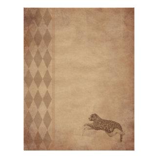 Aged paper -leopard letterhead