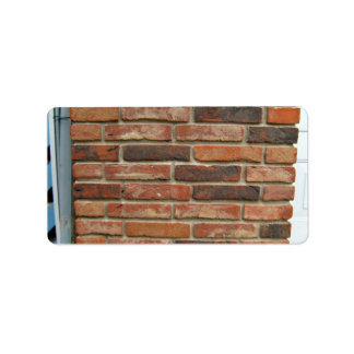 Aged Red Brick Wall Texture Address Label