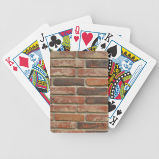 Aged Red Brick Wall Texture Bicycle Playing Cards