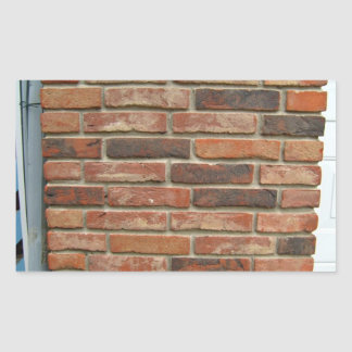 Aged Red Brick Wall Texture Stickers