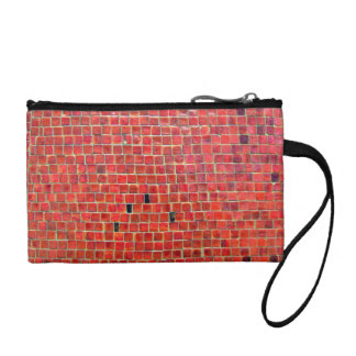 Aged Red Brick Wall With Variations Coin Purse