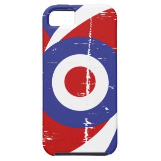 Aged retro Mod target design iPhone 5 Covers