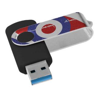 Aged retro Mod target design Flash Drive
