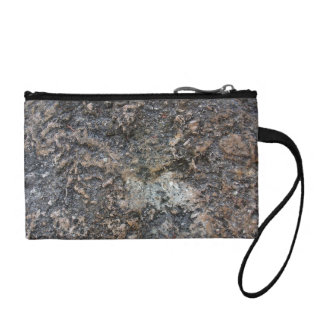 Aged rock texture coin purse