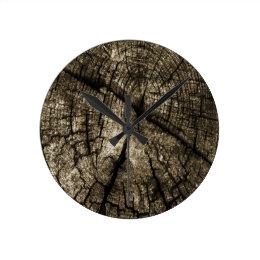 Aged Round Clock