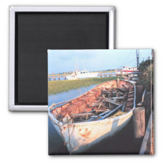 Aged Row Boat Magnet