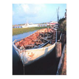 Aged Row Boat Postcard