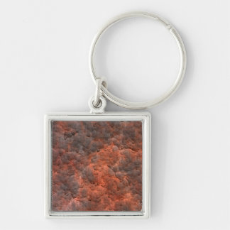 Aged Rusted Metal Keychain