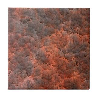 Aged Rusted Metal Ceramic Tile