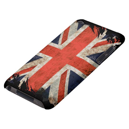 Aged shredded Union Jack ipod touch case