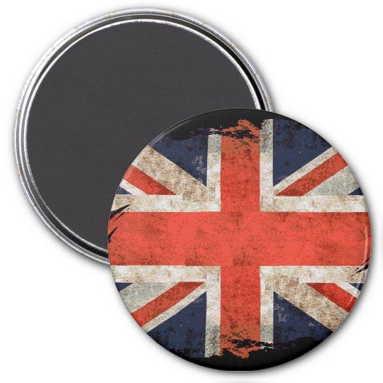 Aged shredded Union Jack Magnet