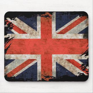 Aged shredded Union Jack Mouse Pad