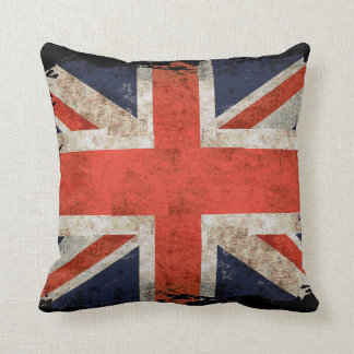 Aged shredded Union Jack Pillow