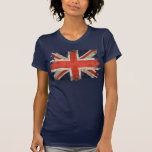 Aged shredded Union Jack T Shirt