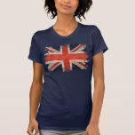Aged shredded Union Jack T-Shirt