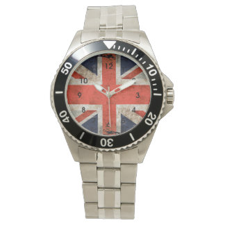Aged shredded Union Jack Wristwatch