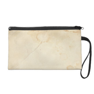 Aged  Stained Paper Look Bagettes Bag Wristlet Clutch