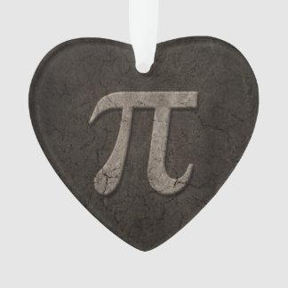 Aged Stone Effect Pi Math Symbol