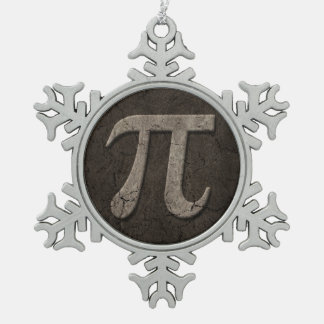 Aged Stone Effect Pi Math Symbol Ornament