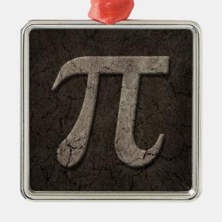 Aged Stone Effect Pi Math Symbol Christmas Ornament