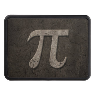 Aged Stone Effect Pi Math Symbol Tow Hitch Cover