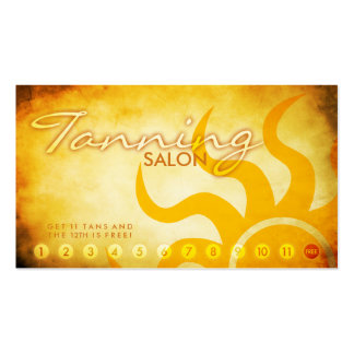 aged tanning salon loyalty card Double-Sided standard business cards (Pack of 100)