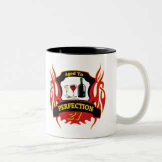 Aged To Perfection 21st Birthday Gifts Two-Tone Coffee Mug