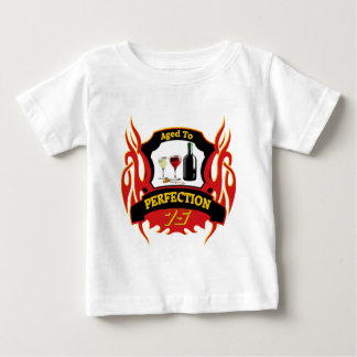 Aged To Perfection 75th Birthday Gifts Baby T-Shirt