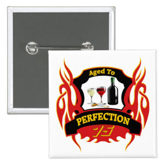 Aged To Perfection 75th Birthday Gifts Pinback Button
