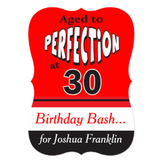 Aged to Perfection at 30 | 30th Birthday Card