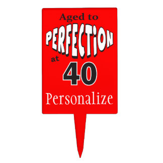 Aged to Perfection at 40 | DIY Text| 40th Birthday Cake Topper