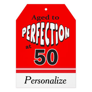 Aged to Perfection at 50 Jumbo Gift Tag Custom Announcements