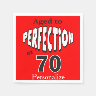 Aged to Perfection at 70 | 70th Birthday Paper Napkin