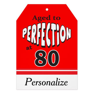 Aged to Perfection at 80 Birthday Theme Cards