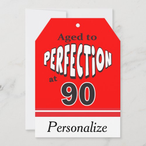 Aged to Perfection at 90  90th Birthday Card
