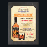"Aged to Perfection Birthday Cheers Whisky Invite<br><div class=""desc"">Rustic Aged to Perfection Invite,  Cheers to Years Design. Perfect for any age birthday. Simply change the text to suit your party. Back print included.</div>"