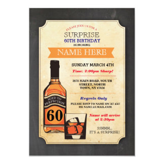 Aged to Perfection Birthday Cheers Whisky Invite