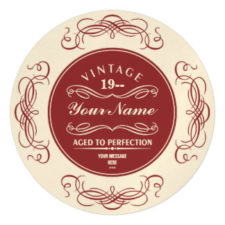 Aged to Perfection Birthday Party Invitations