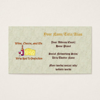 Aged To Perfection Business Card