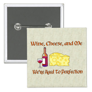 Aged To Perfection 2 Inch Square Button