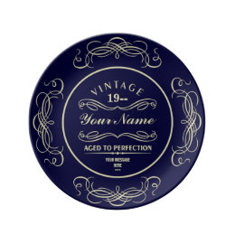 Aged to Perfection Custom Gift Porcelain Plate